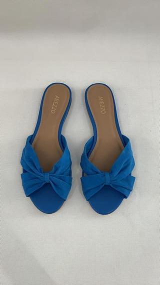 Rasteira Slide Azul