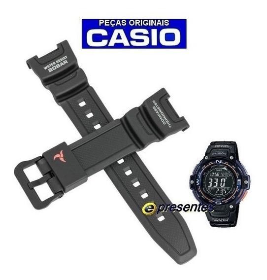 Pulseira Casio Sgw-100 2b Resina Preta - 100% Original