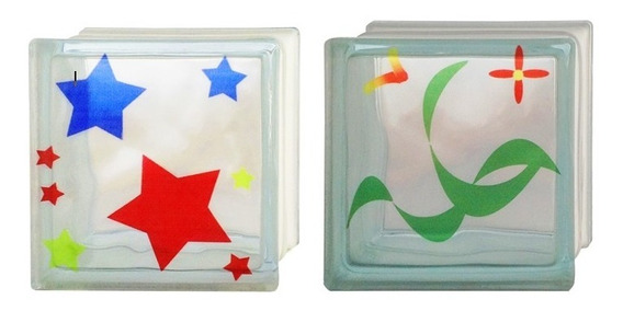 Ladrillos De Vidrio   Vitroblock   Diseños (neutro Y Color)