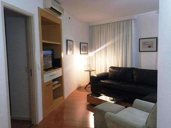 Apartamento Tipo Flat Alto Padrão Para Locação No Itaim Bibi I 2 Suítes I Sala 2 Ambientes I 1 Vaga I Varanda I 80m² I 1 Vaga - Fl0227