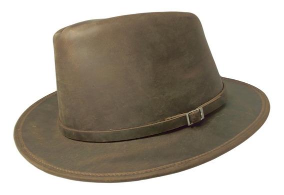 Sombrero De Cuero - Modelo Malevo La Sombra Del Arrabal