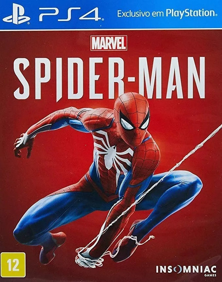 Spider-man Homen Aranha Ps4 Mídia Física Novo Lacrado + Nf