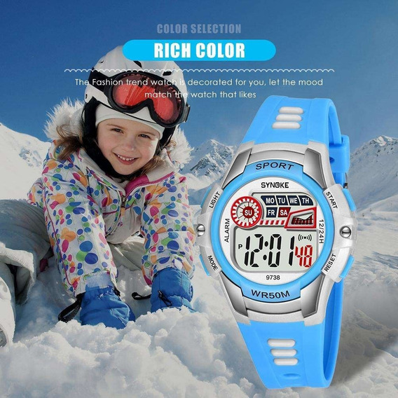 Relógio Infantil Synoke 9738 Colors