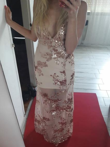 Vestido Largo De Fiesta.importado.gala.lentejuelas X S
