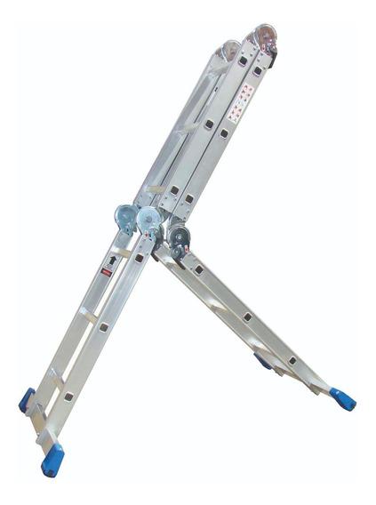 Escalera Multiposiciones Acero/aluminio C/charolas 3.54 Mts