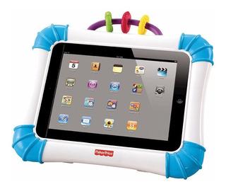 Funda Case Porta iPad Bebe Fisher-price Rie Y Aprende Azul