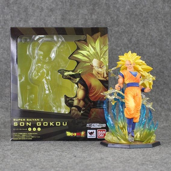 Goku Super Sayajin 3 Com Base Pronta Entrega