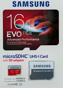 Microsd Samsung Evo Plus 16gb Sdhc Uhs-1 Class 10