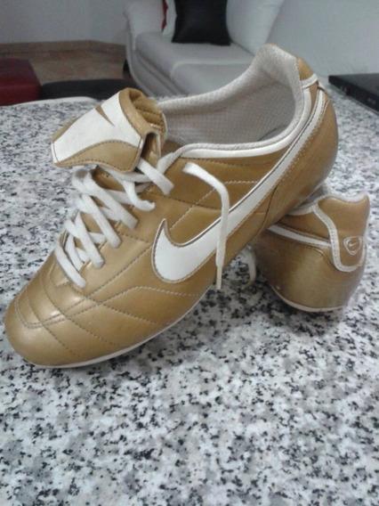 Zapatos Futbol Nike Total 90 Dorados Usados 5.5 Usa Ref.25