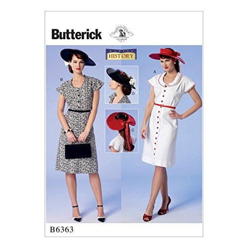 Butterick Patterns B6363 De Costura Para Vestidos Y Sombrero
