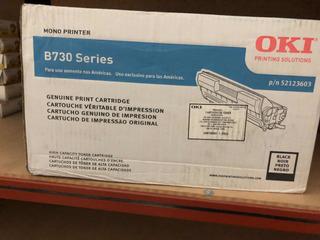 Toner Oki B730 Nuevo Original 52123603 Caja Dañada