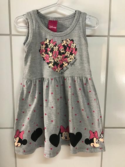 Vestido Disney Minnie Mescla Infantil - Tam. 1