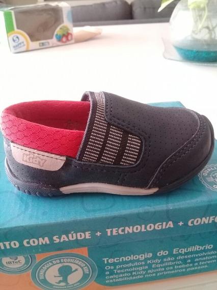Zapatos De Niño Tipo Pancha Kidy. Talle 19. Color Azul