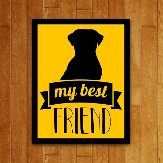 Placa Quadro Decorativo Pet - My Best Friends Dog