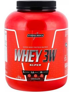 Whey 3w (concentr/isolad/hidrolisad) 1,8kg Integral + Brinde