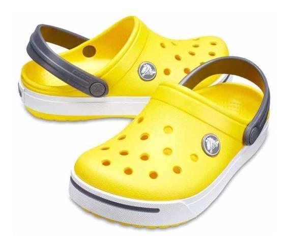 Crocband Ll Kids Amarelo C Branco
