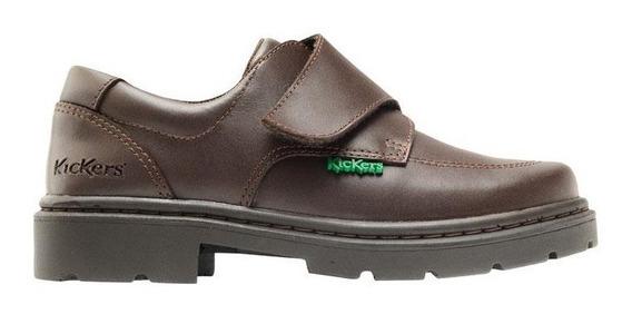 Zapatos Kickers Kool Con Abrojo Mar 31 Al 34 De Niños
