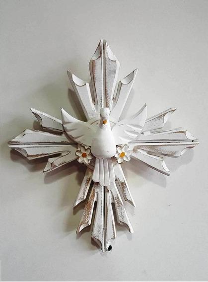 Resplendor Parede Divino Espirito Santo Madeira Crucifixo
