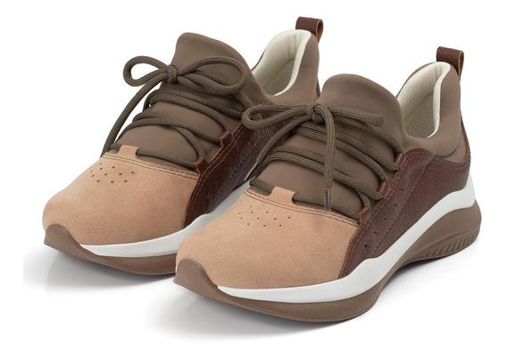 Tênis Anabela Piccadilly Elástico Calçado Lançamento Sapato