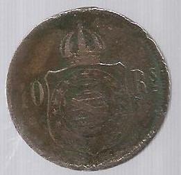 Moeda Brasil Antiga Reis Império 10 Réis.
