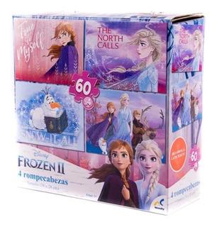 Rompecabezas Frozen 4 En 1
