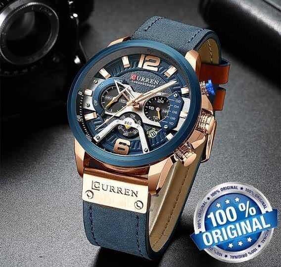 Relógio De Pulso Curren 8329 - Original (azul)