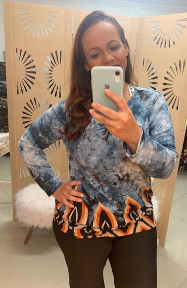 Blusinha Feminina Plus Size Gg Estampa Linda