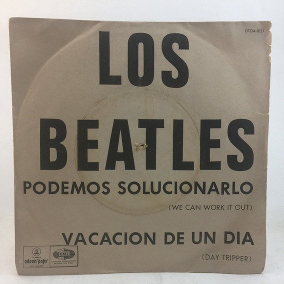 The Beatles - Day Tripper - We Can Con Tapa Simple Vinilo Lp