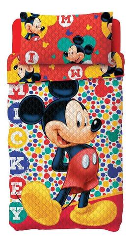 Colcha Bouti Dupla Face Mickey / Minnie 2 Pçs - Lepper