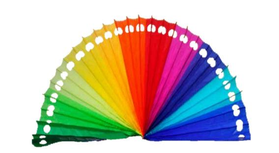Decoración Abanico Todos Los Colores Plegable 50 Piezas