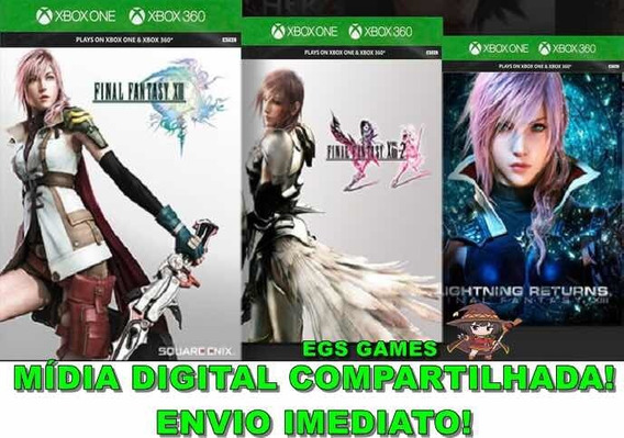 Final Fantasy Xiii Trilogy Mídia Digital Xbox 360/one