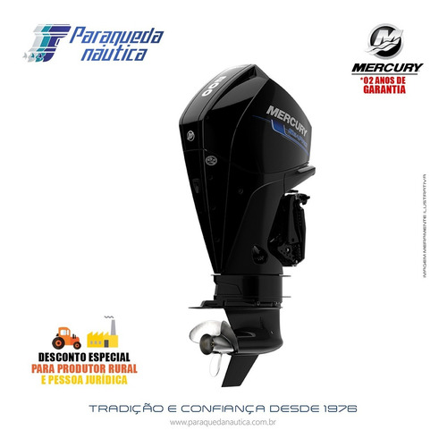 Motor De Popa Mercury 4 Tempos 200hp Xl Seapro V6 Mec Preto