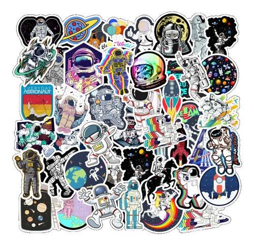 50 Stickers Calcomanias Cool Astronauta Nasa Piloto Planeta