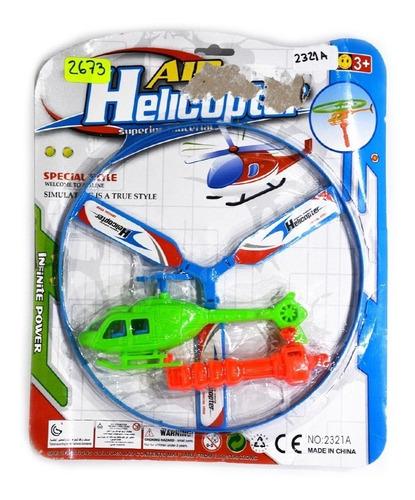Imagen 1 de 3 de Juguete Helicoptero Con Lanzador Niños Entretenimiento