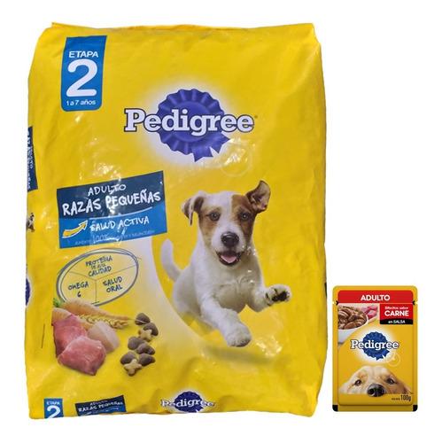 Comida Pedigree Perro Adulto Raza Pequeña 21 Kg + Pouch