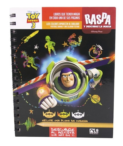 Imagen 1 de 3 de Descubre Dibuja Y Diviertete Toy Story 3 Kno-103