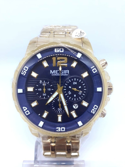 Relógio Megir Dourado Original