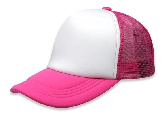 Gorra Sc Trucker Esponja Unitalla Blanco/rosa Neon