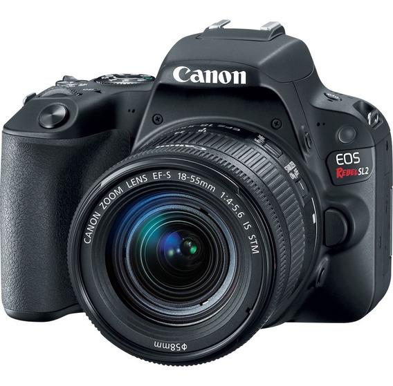 Câmera Canon Eos Sl2+18-55 Is Stm Revenda Autorizada Nf-e