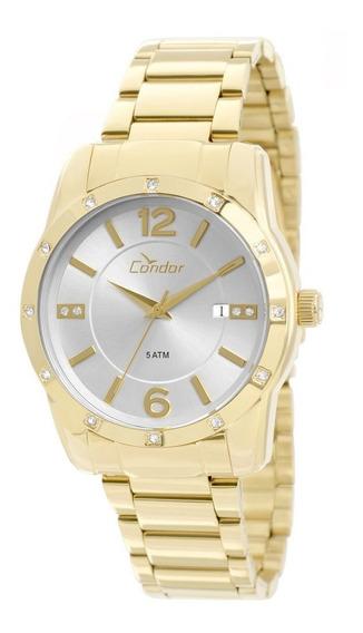Relógio Condor Feminino Dourado Co2115st/4k Lindo E Barato