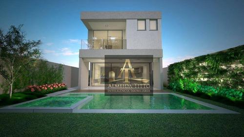New Ville, Santana De Parnaíba. Linda Casa Com Projeto Moderno, Em Fase De Construção - Confira! - Ca2396