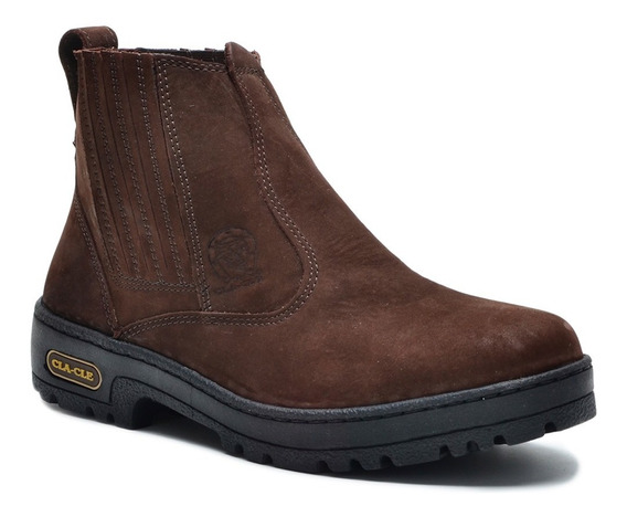 Coturno Bota Country Botina Masculina Couro Animal