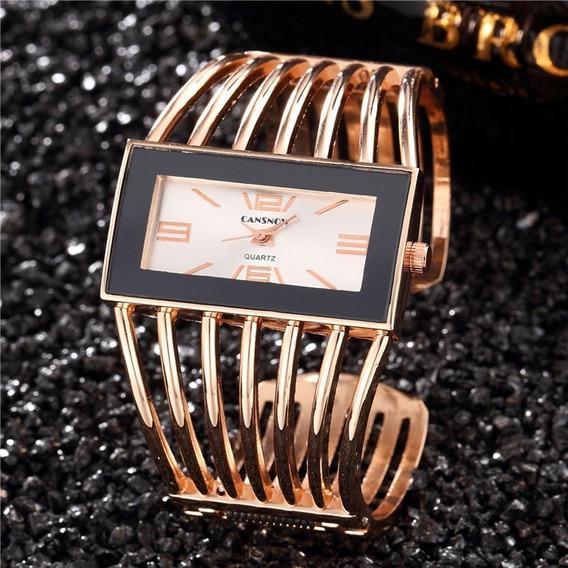 Promoção Relógio Feminino Analógico Quartzo Dourado Prata