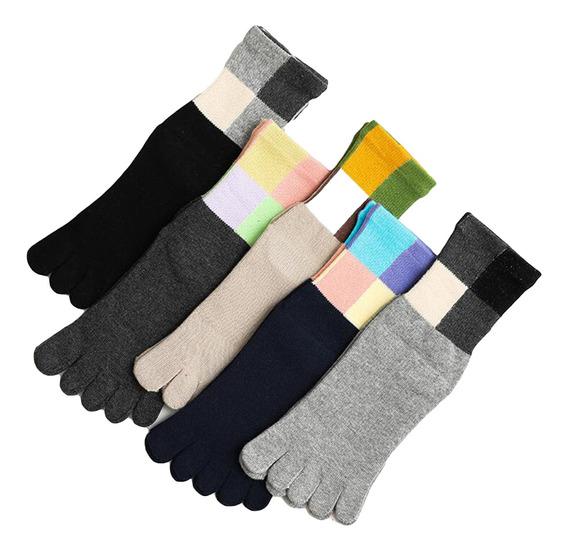 4//5 pares PUTUO Calcetines de Dedos Mujer Calcetines Cinco Dedos de Deporte Mujer Calcetines del Dedo del Pie suave y transpirable Calcetines de Algod/ón