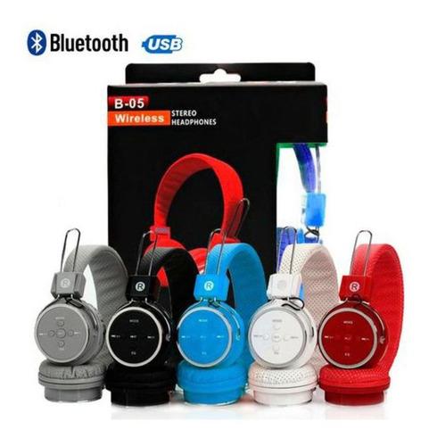 Imagem 1 de 3 de Fone De Ouvido Sem Fio P2 Bluetooth Stereo B05 Card Wireless