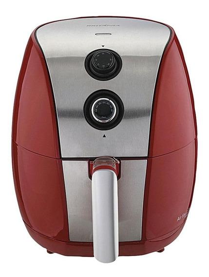 Fritadeira sem óleo Britânia Air Fry 3.2 L vermelha 110V