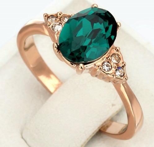 Anel De Formatura Pedra Esmeralda, Verde- Ouro18k