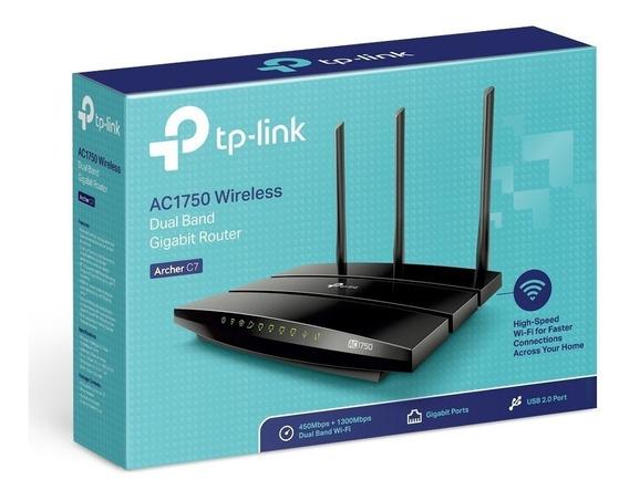 Roteador Gigabit Tp-link Dualband Archer C7 Router Ac1750 V5