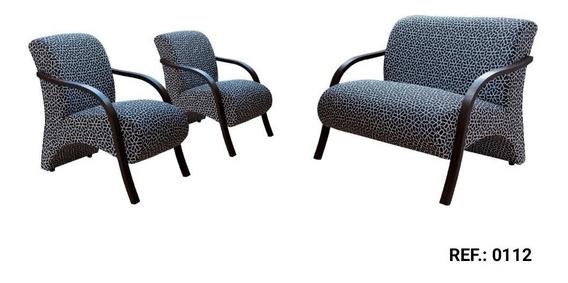 Conjunto Poltrona Decorativa/cadeira Sala, Recepção/3 Peças
