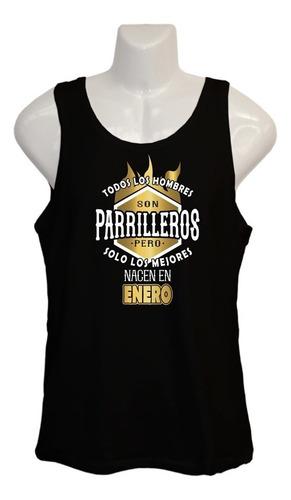 Polera Mejor Parrillero - Musculosa - Regalo - Dieciochero